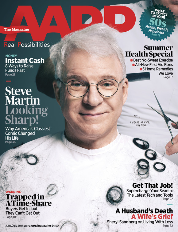 Cover of the Day: AARP The Magazine, June/July 2017