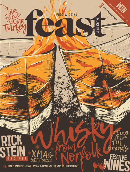 Cover of the day: Feast Norfolk magazine (UK), November 2017