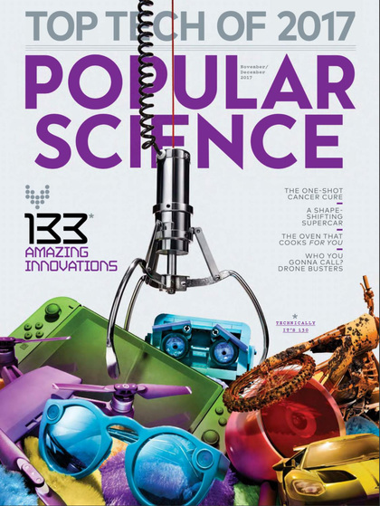 Cover of the day: Popular Science (USA edition), November-December 2017
