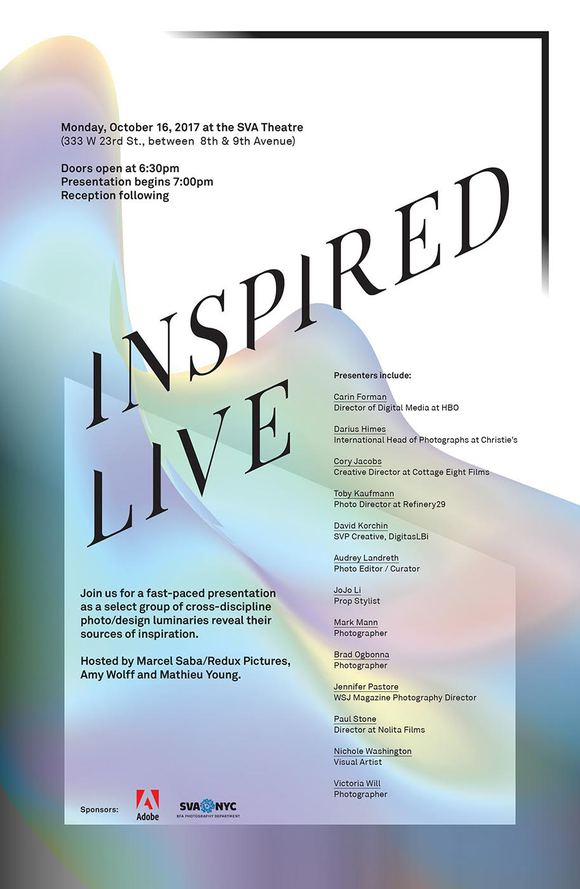 Don't Miss INSPIRED LIVE on Monday, October 16th!