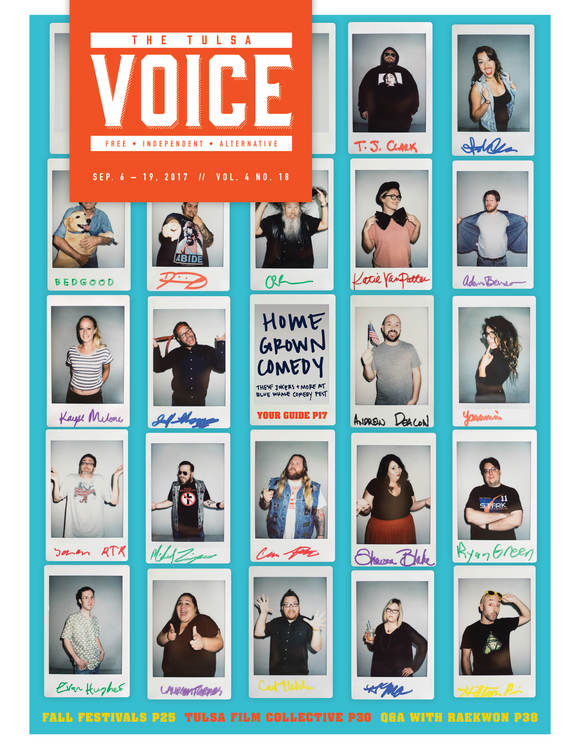 Cover of the Day: The Tulsa Voice, September 6 - 19, 2017