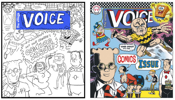 Blood Sweat and Ink! Creating The Village Voice Comics Issue