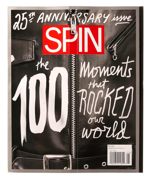 SPIN's 25th Anniversary Cover Zips Up, Counts Down