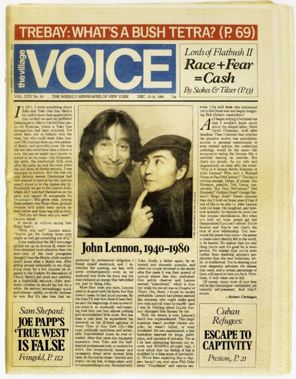 The Village Voice Covers, 1970s-80s Art director: